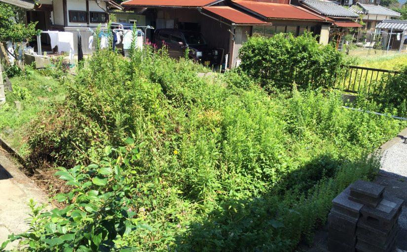 滋賀県長浜市で家財整理と除草作業